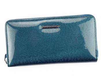 Błyszczący portfel damski ze skóry Gregorio PT-119