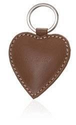 Brelok do kluczy w kształcie serca ze skóry naturalnej — Rovicky