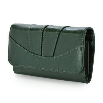 Klasyczny, elegancki portfel Elkor e002zamek zielony