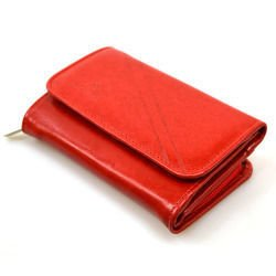 Portfel skórzany Andrus 014z czerwony