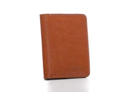 Cienki skórzany męski portfel z bilonówką SOLIER SW15 SLIM JASNY BRĄZ