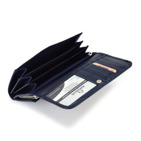 Klasyczny duży damski portfel skórzany Andrus