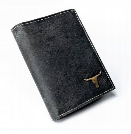 Pakowny portfel męski ze stylizowanej skóry naturalnej — Buffalo Wild