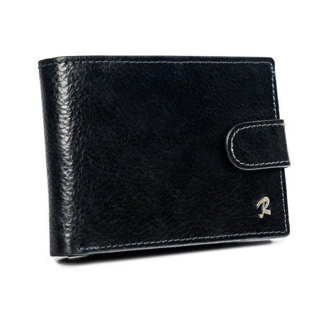 Poziomy portfel męski z zapięciem na zatrzask i schowkiem, RFID — Rovicky