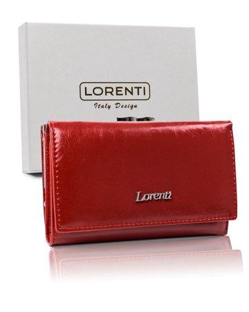 Rozbudowany portfel damski ze skóry naturalnej z biglem, RFID — Lorenti