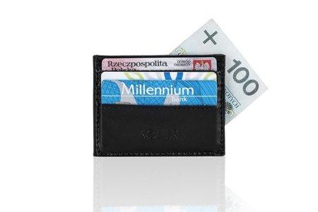 Skórzany portfel wizytownik męski SOLIER SA13