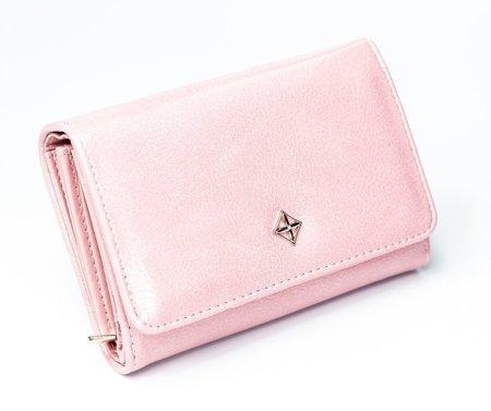 Średniej wielkości portfel damski ze skóry eko zatrzask Milano Design